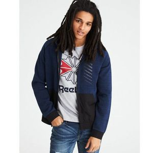 American Eagle Outfitters Full Zip Blue Hoodie S